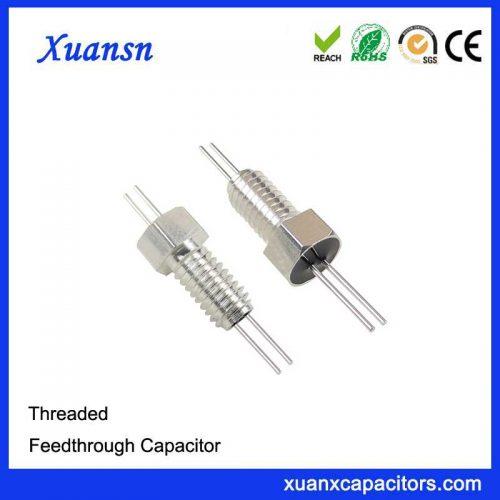 High quality thread through capacitor