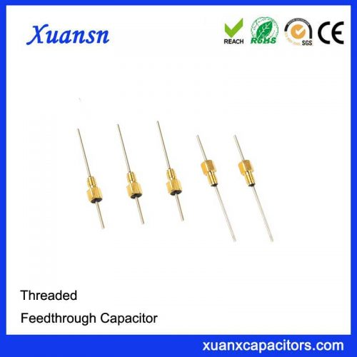 Gold Plated Bushing Style Feed-thru Capacitor