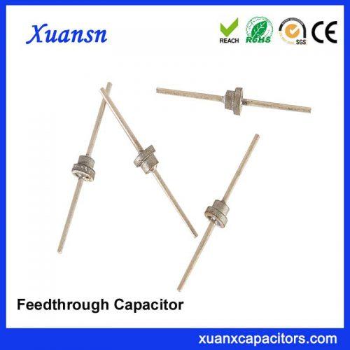 EMI low pass filter feedthrough capacitor