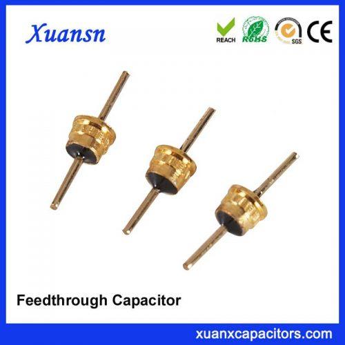 Ceramic feedthrough capacitor